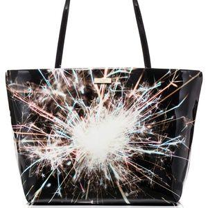 Kate Spade Let Sparks Fly Sparkler Tote Bag